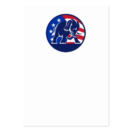 Republican Elephant Mascot USA Flag Business Cards