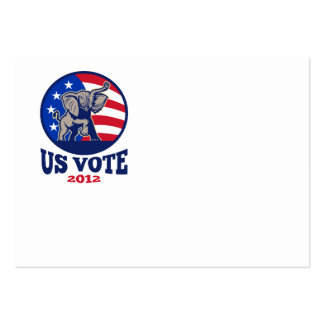 Republican Elephant Mascot USA Flag Vote Business Card Template