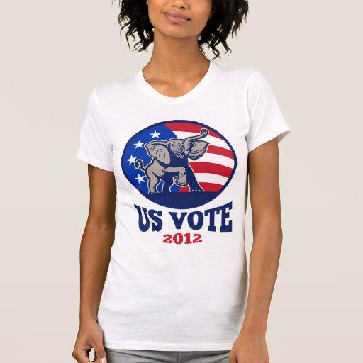 Republican Elephant Mascot USA Flag Vote Shirt