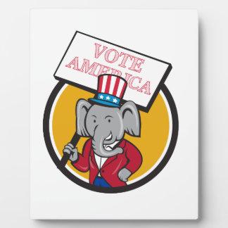 Republican Elephant Mascot Vote America Circle Car Plaque