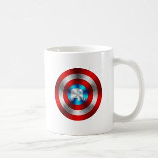Republican Elephant Metal Shield Coffee Mug