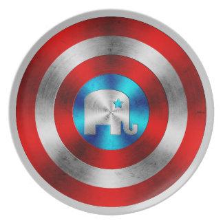 Republican Elephant Metal Shield Plate