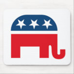 """Republican Elephant Mouse Pad<br><div class=""""desc"""">Great gear for the upcoming elections,  support Ron Paul and Mitt Romney!</div>"""
