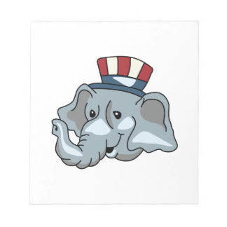 REPUBLICAN ELEPHANT NOTEPADS