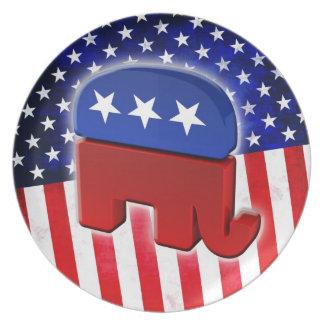 Republican Elephant Party Plate