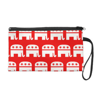 REPUBLICAN ELEPHANT PATTERN RED AND WHITE.png Wristlets
