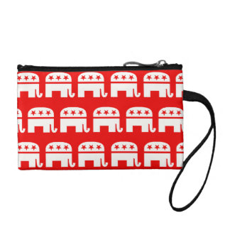 REPUBLICAN ELEPHANT PATTERN RED AND WHITE.png Change Purses