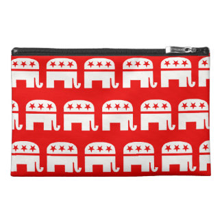 REPUBLICAN ELEPHANT PATTERN RED AND WHITE.png Travel Accessory Bag