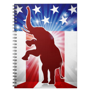 Republican Elephant Political Mascot Notebook