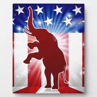 Republican Elephant Political Mascot Plaque
