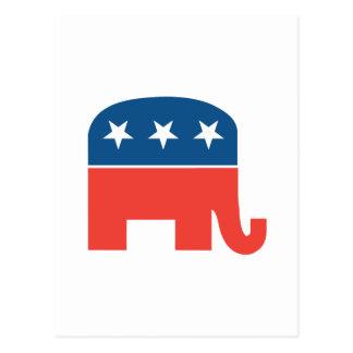 Republican Elephant Postcard