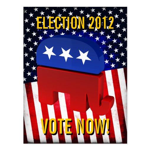 Republican Elephant Postcards