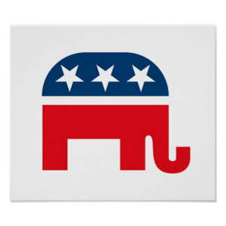 Republican Elephant Posters