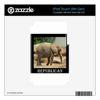 Republican Elephant iPod Touch 4G Decal