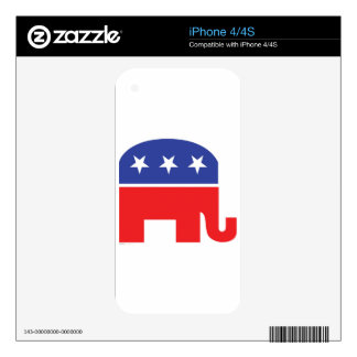 Republican-Elephant Skins For The iPhone 4S