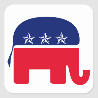 Republican Elephant Square Sticker