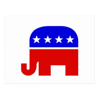 Republican Elephant Symbol Postcard