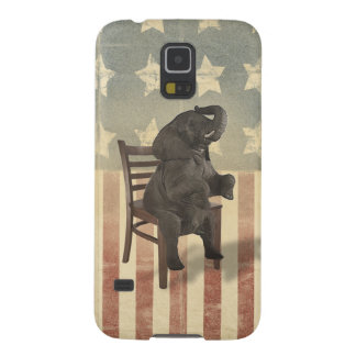 Republican Elephant Takes Presidents Chair Funny Galaxy S5 Case