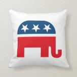 Republican Elephant Throw Pillows