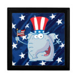 republican elephant tophat giftbox gift boxes