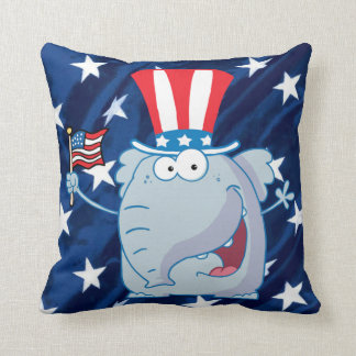 republican elephant tophat pillow