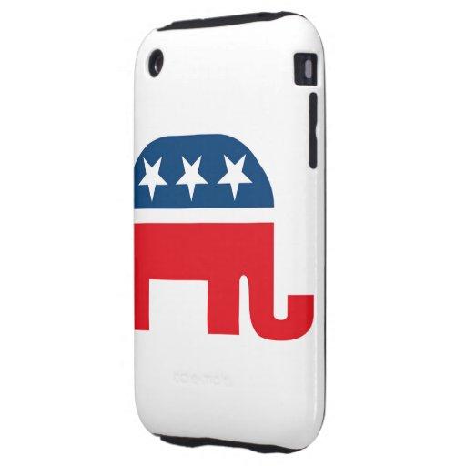Republican Elephant Tough iPhone 3 Case