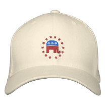 Republican Elephant with Star Logo Political Embroidered Baseball Cap