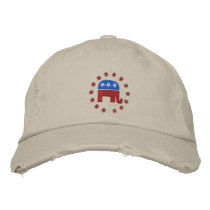 Republican Elephant with Star Logo Political Embroidered Baseball Hat