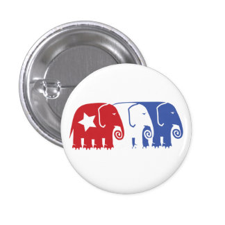 Republican Elephants Pinback Button