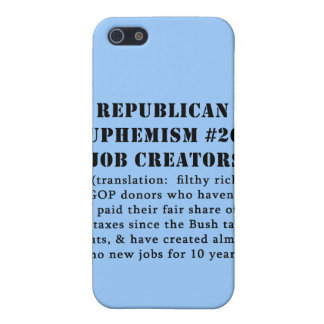 Republican Euphemism Job Creators JOKE iPhone SE/5/5s Cover