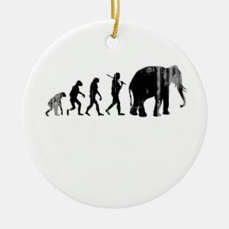 REPUBLICAN EVOLUTION Faded.png Double-Sided Ceramic Round Christmas Ornament