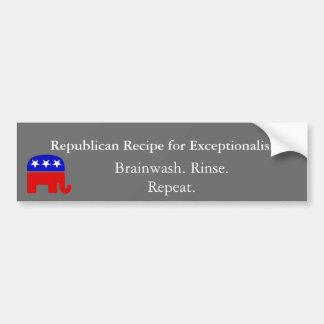 Republican 'Exceptionalism': Brainwash Bumper Sticker