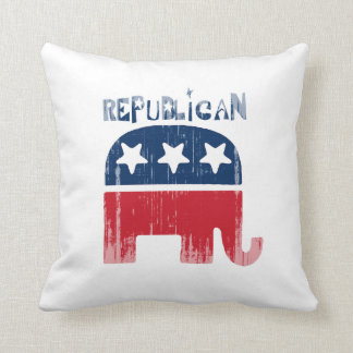 Republican Faded.png Throw Pillow