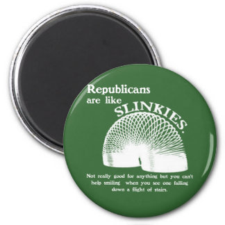 Republican Falling Down the Stairs 2 Inch Round Magnet