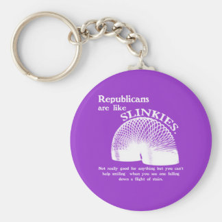 Republican Falling Down the Stairs Basic Round Button Keychain
