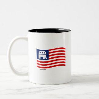 REPUBLICAN FLAG Two-Tone COFFEE MUG