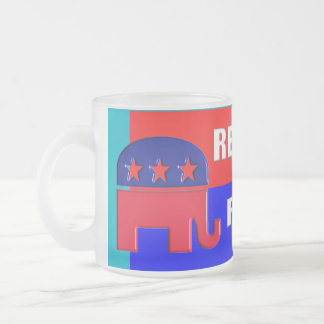 REPUBLICAN FOREVER FROSTED GLASS COFFEE MUG