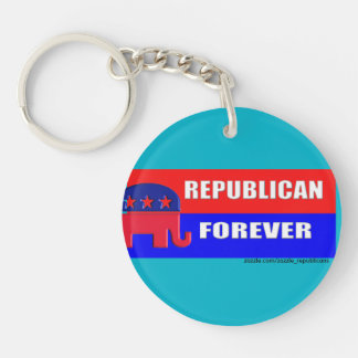 REPUBLICAN FOREVER Single-Sided ROUND ACRYLIC KEYCHAIN