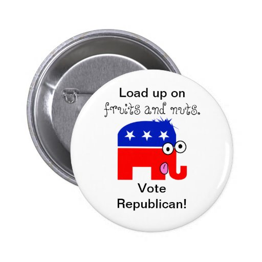 Republican Fruits and Nuts 2 Inch Round Button