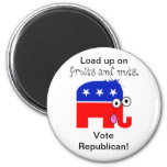 Republican Fruits and Nuts Refrigerator Magnet