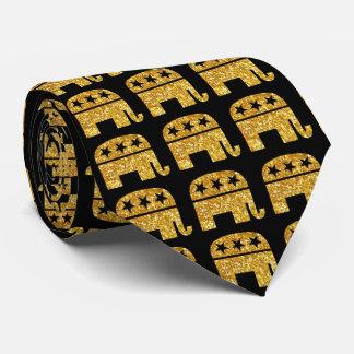 Republican GOP Elephant Neck Tie