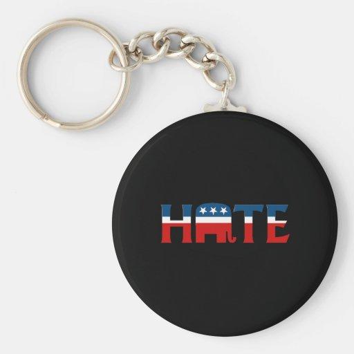 REPUBLICAN HATE BASIC ROUND BUTTON KEYCHAIN