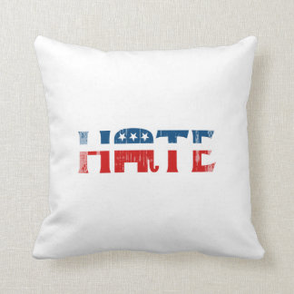Republican Hater Faded.png Throw Pillows