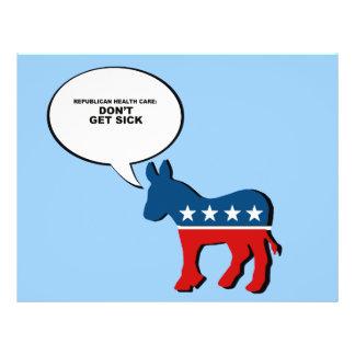 Republican Health Care - Don't get sick Flyer Design