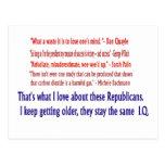 Republican I.Q. Post Card