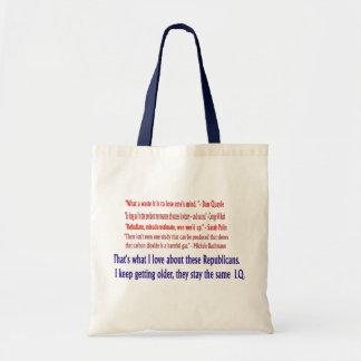 Republican I.Q. Tote Tote Bags
