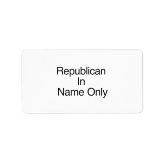 Republican In Name Only Labels