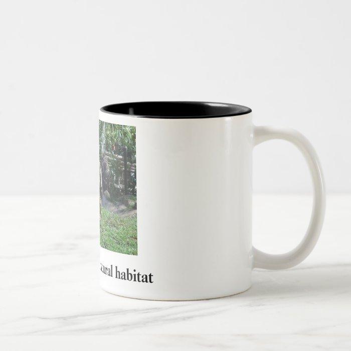 Republican in natural habitat Two-Tone coffee mug