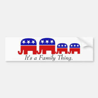 Republican: It's a Family Thing Bumper Sticker