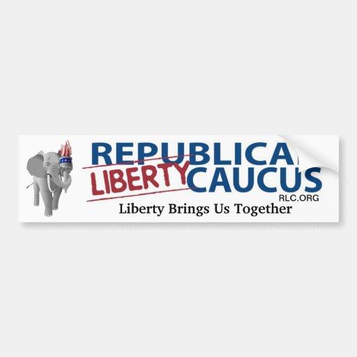 Republican Liberty Caucus - Liberty Unites Us All Bumper Sticker